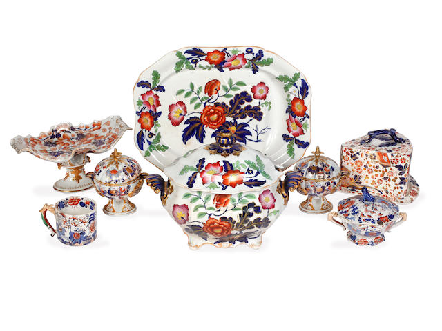 A collection of 19th Century Mason's and other ironstone, mostly in the Imari palette