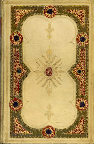 BINDINGS -- JAMES (G.P.R.) A Book of the Passions, elaborately gilt tooled with morocco onlays, 1839