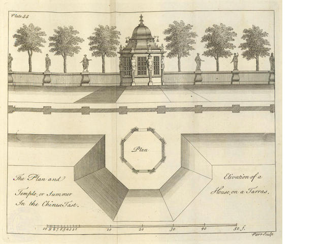 ARCHITECTURE - HALFPENNY (WILLIAM) New Designs for Chinese Temples, Triumphal Arches, Garden Seats..., parts 1-3 (of 4) in one vol.