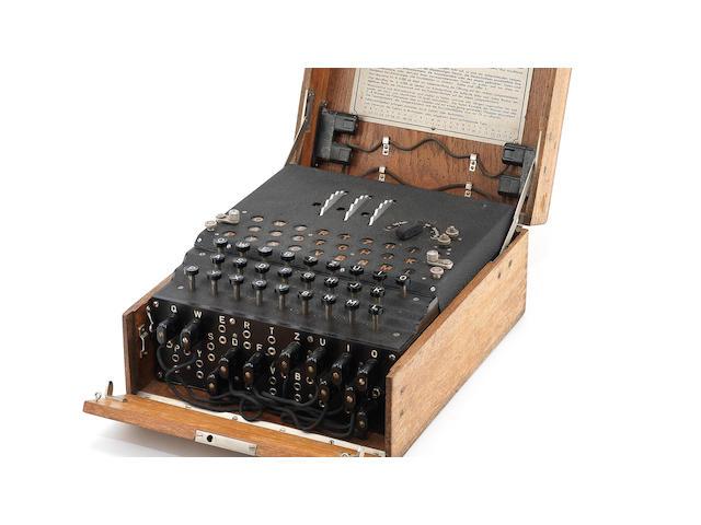A rare three-rotor Enigma enciphering machine, German, circa 1940-41,
