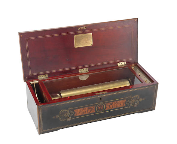 A good Nicole Freres Grand Format Overture cylinder musical box,