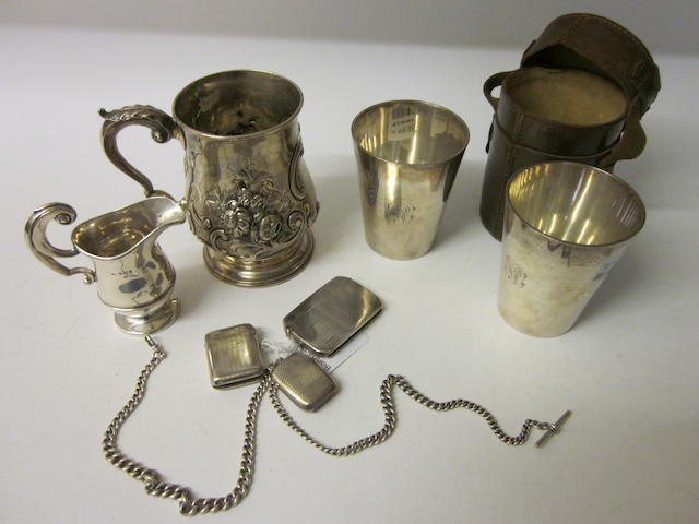 A pair of silver beakers by Goldsmiths and Silversmiths Co. Ltd, London 1926,  (Qty)