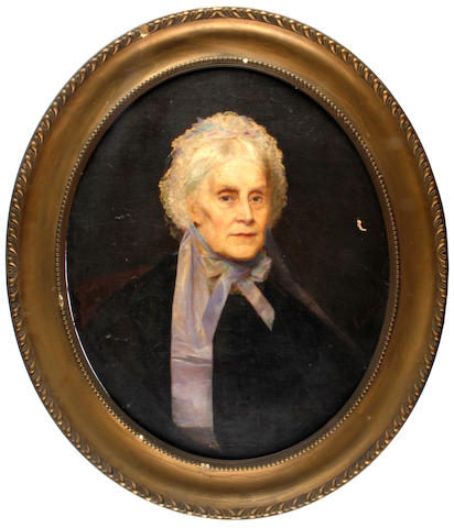 English School, 19th Century portrait of Auginee Putt of Combe Estate, Gittisham