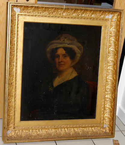 English School, 19th Century portrait of Maria Putt of Combe Estate, Gittisham