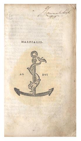 MARTIALIS (MARCUS VALERIUS) [Epigrammata], Venice, Heirs of Aldus the Elder, December 1517