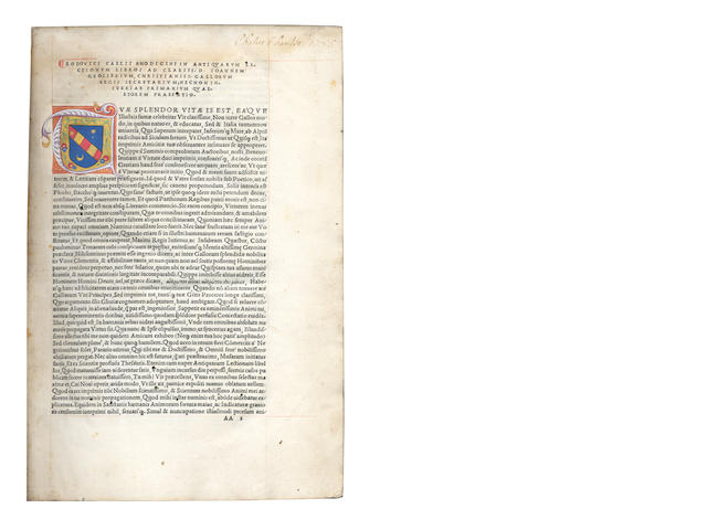 RICHERIUS (LUDOVICUS COELIUS)  Sicuti antiquarum lectionum commentariat], Venice, Heirs of Aldus the Elder, February 1516