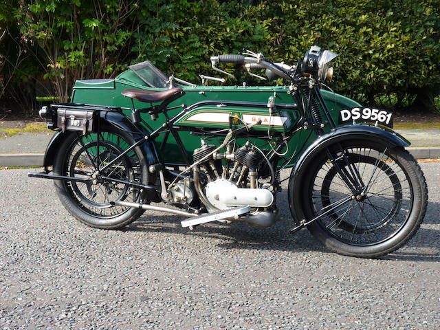 1923 BSA 770cc Model E Frame no. A1792 Engine no. 6646