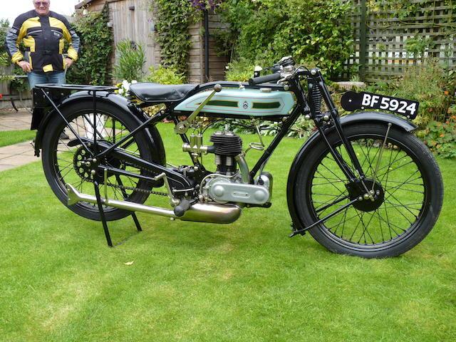1927 Triumph 494cc Model N Frame no. 100578 Engine no. 245579