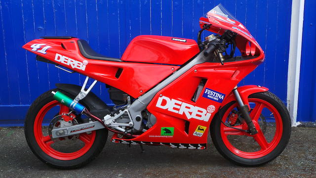 Never registered; 40 miles from new,2000 Derbi 80cc GPR50 Frame no. UTHGPRRABYH-145904 Engine no. C1 - 1102
