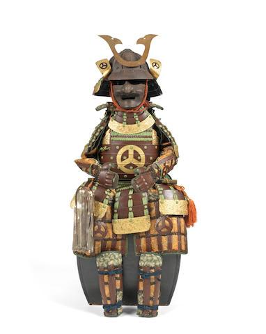 A warabi yoroi armour Late Edo Period, 19th century