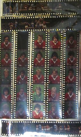 A collection of colour photographic negatives and negative glass plates - Manchester United