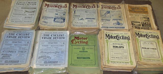 Early loose issues for various motorcycling periodicals,