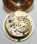 Two 18th Century pair case key wind pocket watches (2)