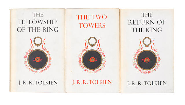TOLKIEN (J.R.R.) The Lord of the Rings, 3 vol., FIRST EDITION, FIRST IMPRESSIONS, dust-jackets, 1954-1955