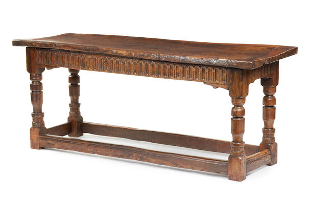 A Charles I and later oak serving/refectory-type table