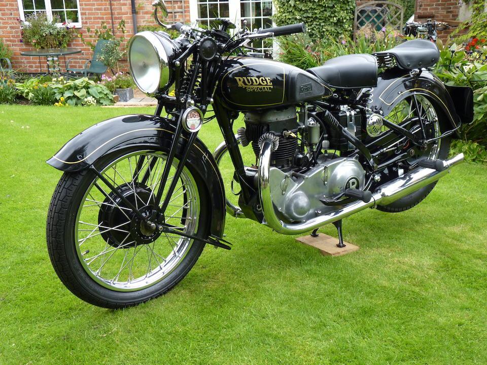 1936 Rudge 499cc Special Frame no. 58111 Engine no. S3089
