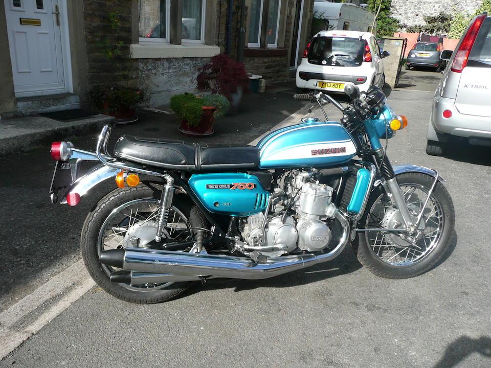 1972 Suzuki GT750 Frame no. 18067 Engine no. 18103