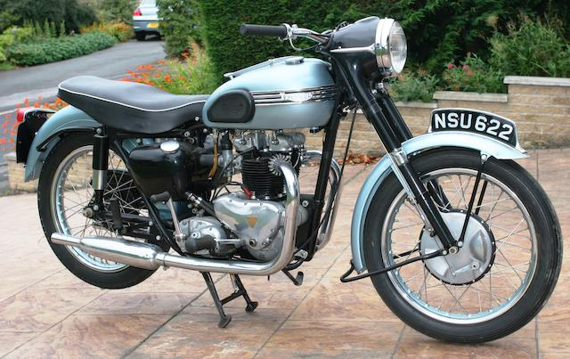 1955 Triumph 650cc Tiger T110 Frame no. 65781 Engine no. T110 65781