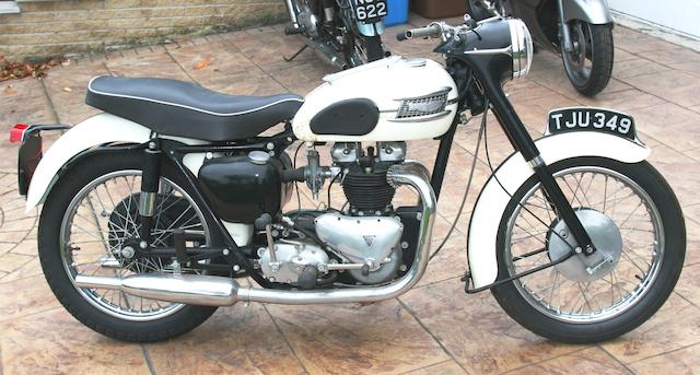 1959 Triumph 650cc Thunderbird Frame no. 028152 Engine no. 6T 028152