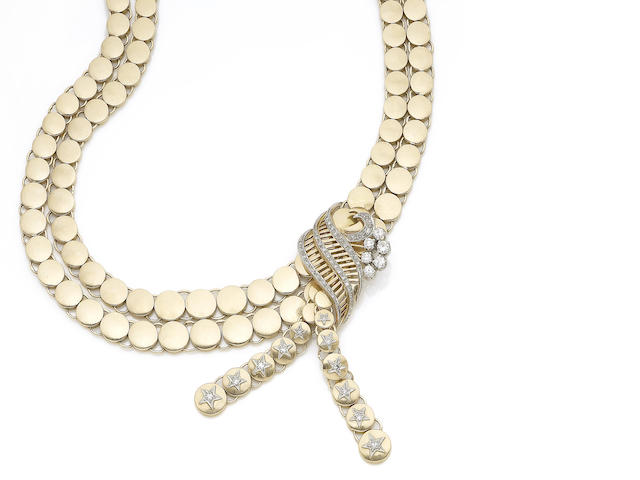 A diamond-set necklace,