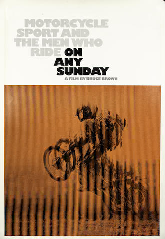 'On Any Sunday', an original film poster starring Steve McQueen, 1971,