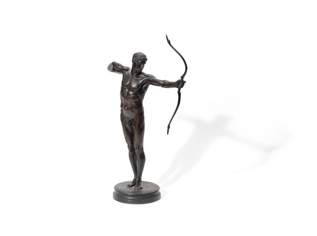 Sir William Hamo Thornycroft, British (1850-1925): A bronze figure of 'Teucer'