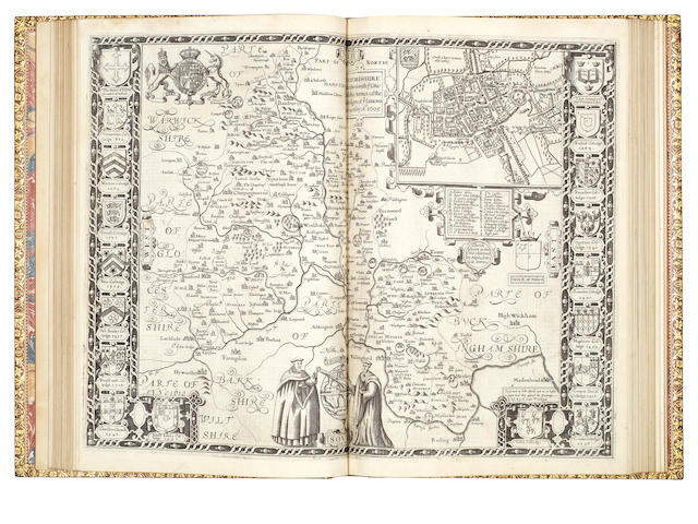 SPEED (JOHN) Theatrum Imperii Magnae Britanniae, 4 parts in one vol., WITH FINE IMPRESSIONS OF THE MAPS, John Sudbury and George Humble, 1616