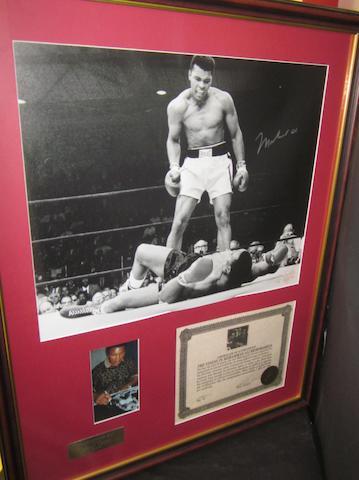 Muhammad Ali v Sonny Liston hand signed montage