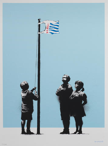 Banksy (British, born 1975) Very Little Helps Screenprint in colours, 2008, on wove, signed in blue pencil, numbered 174/299 in pencil, published by Pictures on Walls, London, 507 x 375mm (19 7/8 x 14 3/4in)(SH)(unframed)