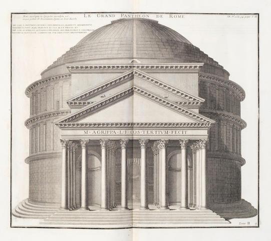 MONTFAUCON (BERNARD DE) L'Antiquite Expliquee, et Representee en Figures, 15 vol. (5 vol. in 10 plus 5 supplement vol.), FIRST EDITION 1719-1724