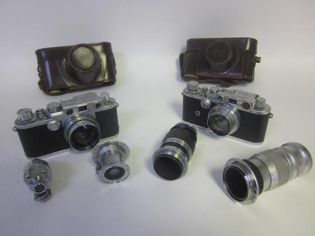 A Leica IIIf, (qty)