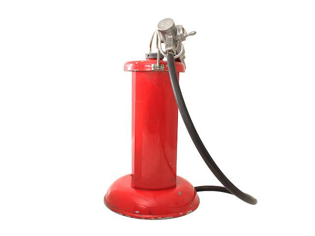 A five Litre pit lane petrol pump,