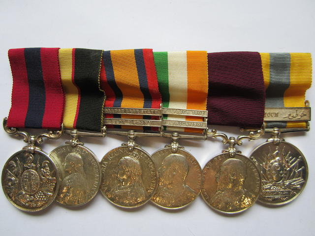 A Sudan D.C.M. group of six to Quartermaster Sergeant W.H.Scrase, Royal Army Medical Corps,