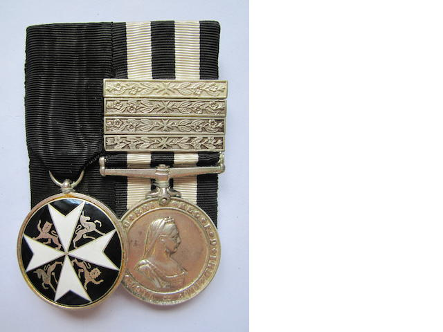 An Order of St.John pair to Sergeant F.B.Penn, St.John Ambulance Brigade,