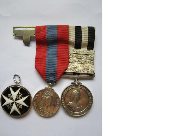 An Order of St.John group of three to T.B.P.Harrison, St.John Ambulance Brigade,