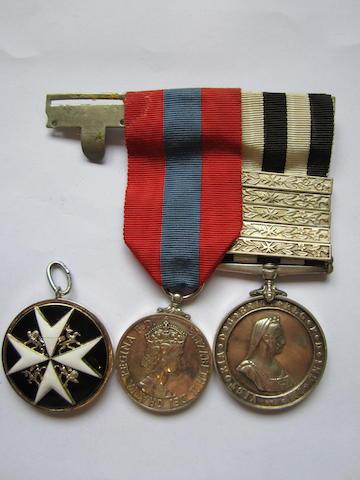 An Order of St.John group of three to T.B.P.Harrison, St.John Ambulance Brigade,