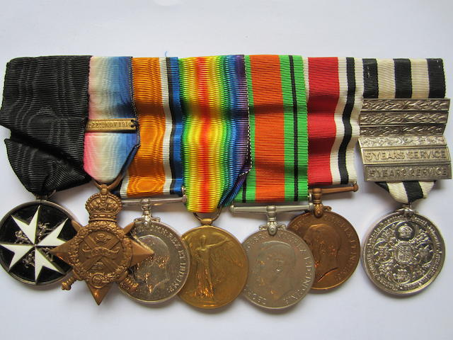 An Order of St.John group of seven to J.H.Potter Royal Army Medical Corps,