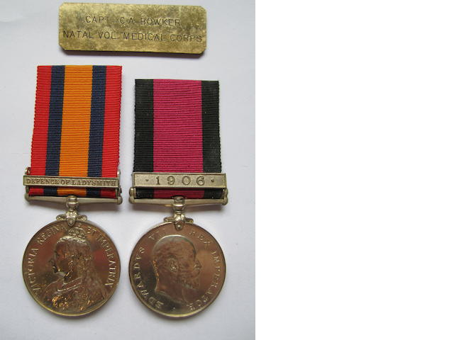 Pair to Major C.A.Bowker, Natal Medical Corps,