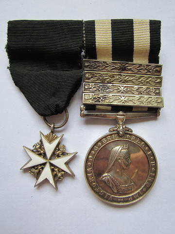 An Order of St.John pair to L/A/Officer L.G.Dedicoat, St.John Ambulance Brigade,