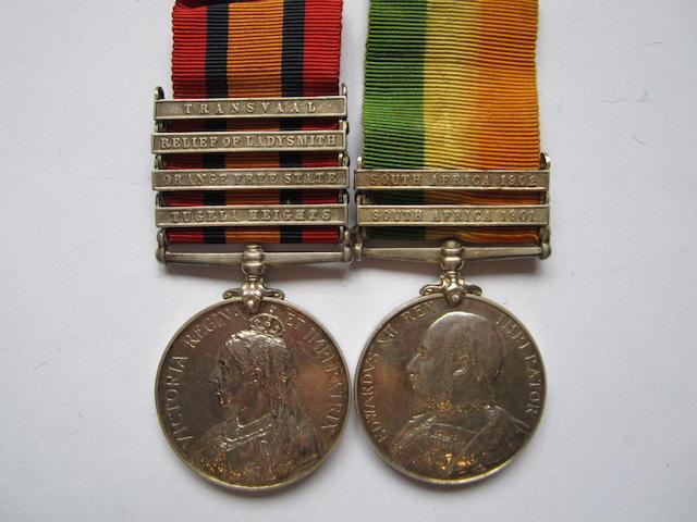 Pair to Captain R.H.Lloyd, Royal Army Medical Corps,