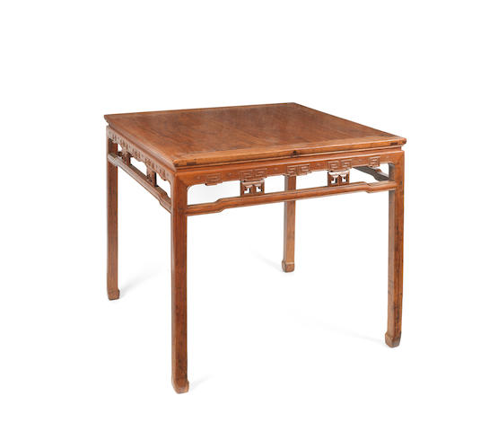 A square hardwood table, kang zhuo 19th century
