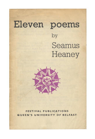 HEANEY (SEAMUS) Eleven Poems, FIRST EDITION, FIRST ISSUE OF THE AUTHOR'S FIRST BOOK, [1965]