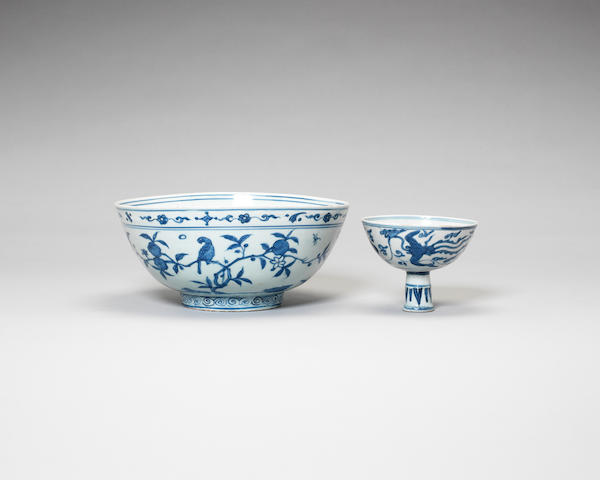 Two provincial blue and white wares 16th and 17th centuries