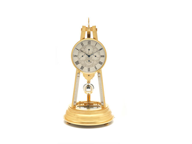 A fine and rare mid 19th century tripod timepiece compendium Attributed to Thomas Cole for Smith & Sons of Clerkenwell