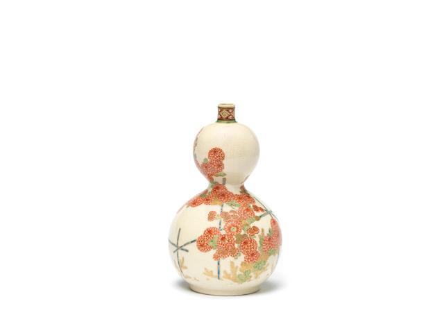 A Satsuma double-gourd vase Meiji Period