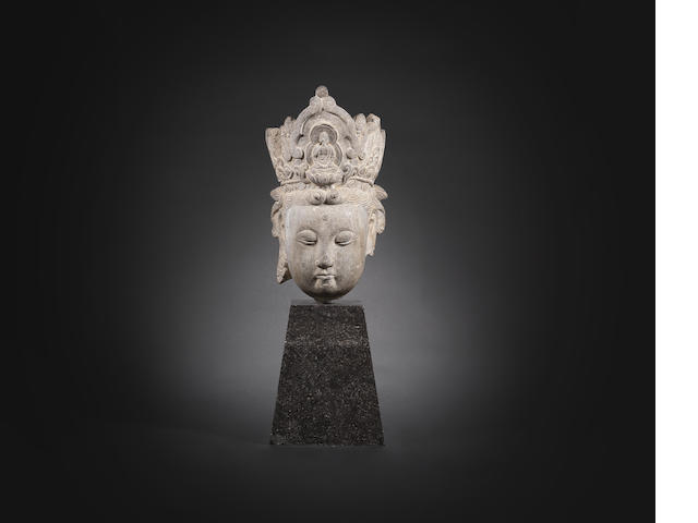 A stone head of Guanyin Ming Dynasty