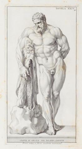 ANATOMY. GENGA (BERNARDINO) Anatomia per uso et intelligenza del disegno ricercata non solo su gl'ossi e muscoli del corpo humano, FIRST EDITION, Rome, 1691