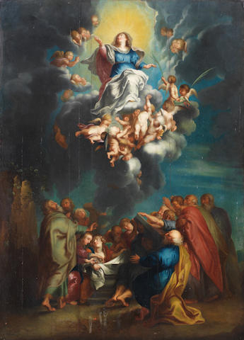 After Sir Peter Paul Rubens, 18th Century The Assumption of the Virgin unframed