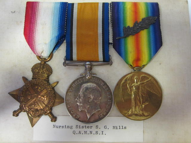 Three to Nursing Sister S.G.Mills, Queen Alexandra's Military Nursing Service India,