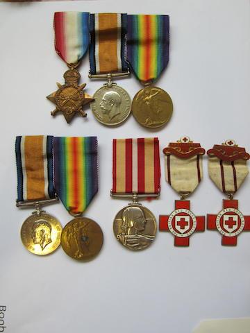 Three to Lieutenant Colonel C.A.C. De Trafford, Royal Warwickshire Regiment,